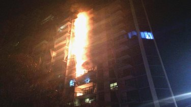The 2014 Lacrosse apartment fire in Docklands.