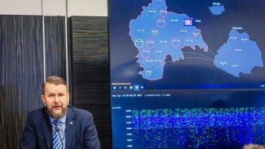 Sven Sakkov, Director of the NATO Cooperative Cyber Defence Centre of Excellence in Tallinn, Estonia.