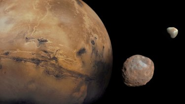 Mars is typically around 140 million miles from Earth and would take humans up to nine months to travel there.