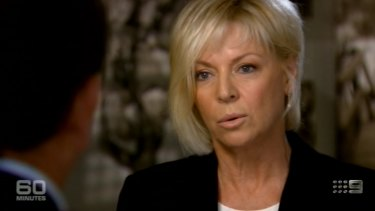 Liz Hayes during a <i>60 Minutes</i> interview.