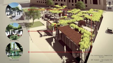 Christopher Ho?design for King George Square as part of Plus Architecture design competition