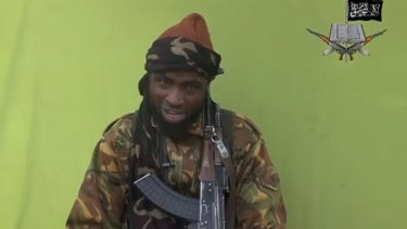 Boko Haram leader Abubakar Shekau speaks at an unknown location in this still image taken from an undated video released by the Nigerian Islamist rebel group.