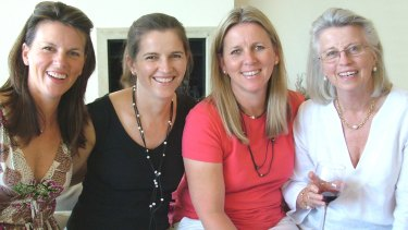 Shayne Higson with her sisters and her mother, Jan Ryder, who died of brain cancer in 2012.