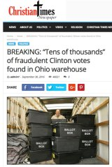 A screen shot of a fake article on Cameron Harris's website.