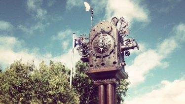 Boonah's new Blumbergville Clock.