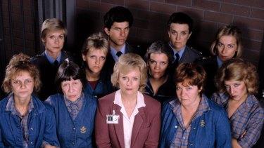 The cast of the TV drama <i>Prisoner</i>.