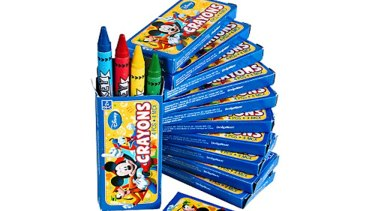 Asbestos fibres have been found in some crayons.