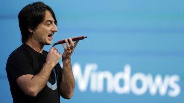 How can I help? Microsoft's Joe Belfiore introduces Cortana last month.
