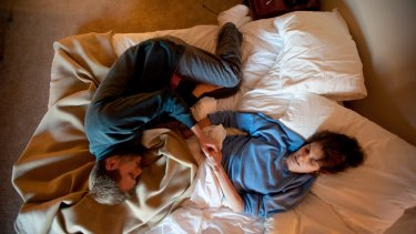 Josh Schisler and Kim Suozzi during the last days of her life, in January 2013.