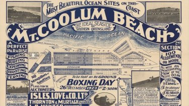 The Mount Coolum Estate on the Sunshine Coast, advertised in 1923.