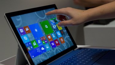 Touch and type: The Microsoft Surface Pro 3 with Type Cover.