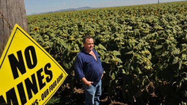 Local farmer Tim Duddy has been among those calling for a bar on coal mines in the Liverpool Plains.