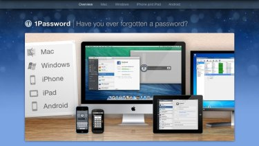 Secure: A screenshot of 1Password.