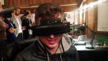The developer edition of the Meta glasses.