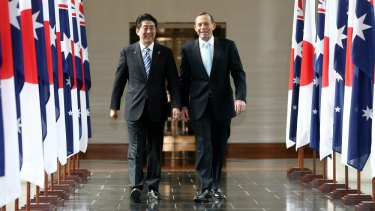 """Prime Minister Tony Abbott: """"Australia welcomes Japan's recent decision to be a more capable strategic partner in our region."""""""