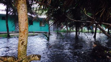 The Marshal Islands says it's already feeling the affects of climate change, with king tides like this in 2013.