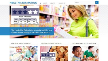 Original: An earlier version of the the Health Star Rating website before it was shut down.