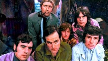 Monty Python: L-R: Terry Jones, Graham Chapman, John Cleese, Eric Idle, Terry Gilliam, Michael Palin.