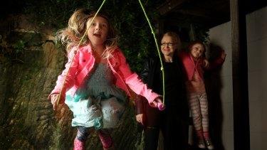 No guarantees: Jo Karabin with her children, Mila, 8, and Kiki, 4.