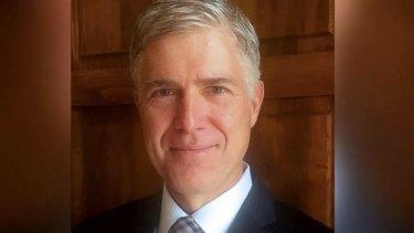 US Supreme Court nominee Neil Gorsuch, a former Harvard law school classmate of former president Barack Obama.