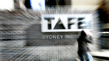 TAFE enrolments have been in chaos during roll out of the LMBR system.