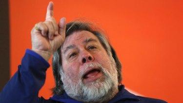 Re-writing history: Apple co-founder Steve Wozniak.