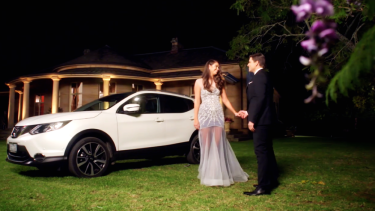 Lana and her Nissan before having her heart broken on The Bachelor.