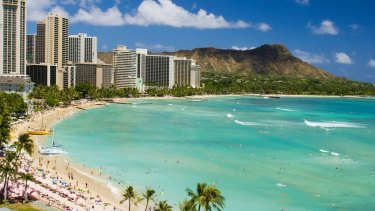 The lowest airfare between Sydney and Honolulu has fallen 40.3 per cent to $511 return over the past year.