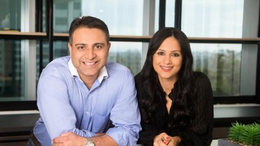 Esha Oberoi and her husband Gaurav, who is the chief financial officer of Afea Care Services.