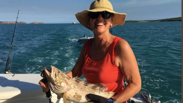 Marg Thomas said the predators appeared to be interested in the boat.
