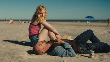 Elle Fanning as Raquel and Ben Foster as Roy Cady in Galveston.