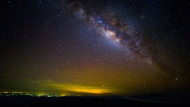 Olbers' Paradox asks why is the sky dark at night? In an infinite eternal universe, every line of sight would end on a star and even dust clouds would glow as bright as day.