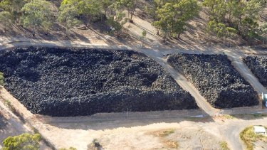 The Stawell tyre stockpile is one of the world's largest.