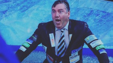 Eddie McGuire during the 'Big Freeze at the G' last Monday.