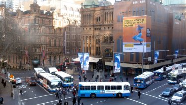 All change: All George Street buses will be affected by change from October.