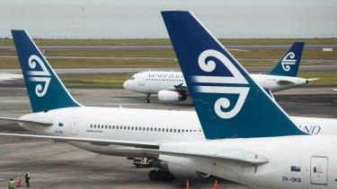Locked out: Air New Zealand described the pilots' mid-air falling out as 'unfortunate'.
