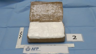 Cocaine allegedly found on the Japanese whaling boat.