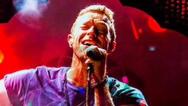 Coldplay's Chris Martin in action at Brisbane's Suncorp Stadium this month.
