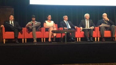 Six in a row: Gold Coast's mayoral candidates.