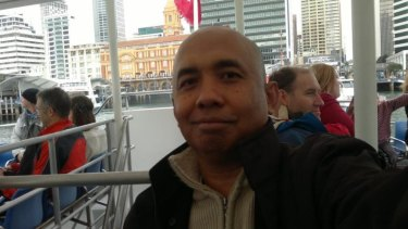 Zaharie Ahmad Shah, pilot of Malaysia Airlines flight MH370, in a photo posted to his community Facebook page.