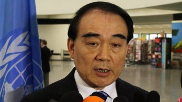 Criticisms: Li Baodong, China's vice-minister of foreign affairs.