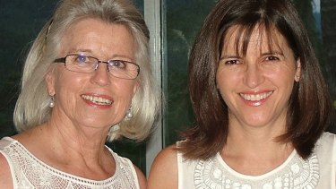 Jan Ryder (left) with her daughter Shayne Higson in 2010, two years before she was diagnosed with brain cancer.