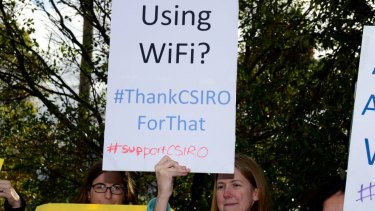CSIRO staff in Clayton, Melbourne, protesting the proposed 700 national job losses.