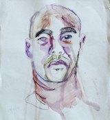 A sketch Myuran Sukumaran made of himself.