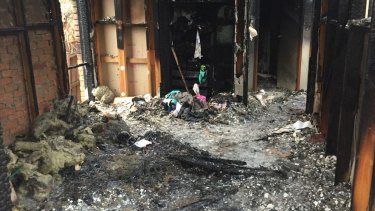 The bedroom where it's believed a 'hoverboard' started a fire.