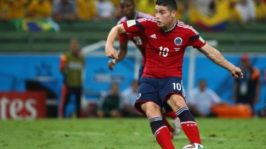 James Rodriguez set up a grandstand finish with a late penalty.