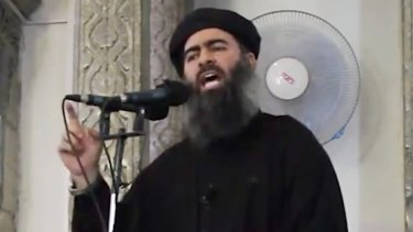 Future in doubt: The leader of the Islamic State, Abu Bakr al-Baghdadi.