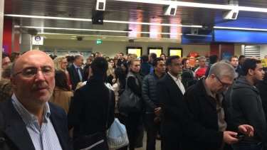 Central Station platforms 24 and 25, serving the Eastern Suburbs and Illawarra line, have been evacuated.