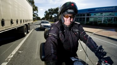 President of Motorcycle Riders ACT Steve Robson  supported calls for a trial of lane filtering in the ACT