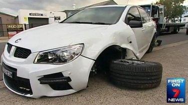 The car Chris Sandow crashed.
